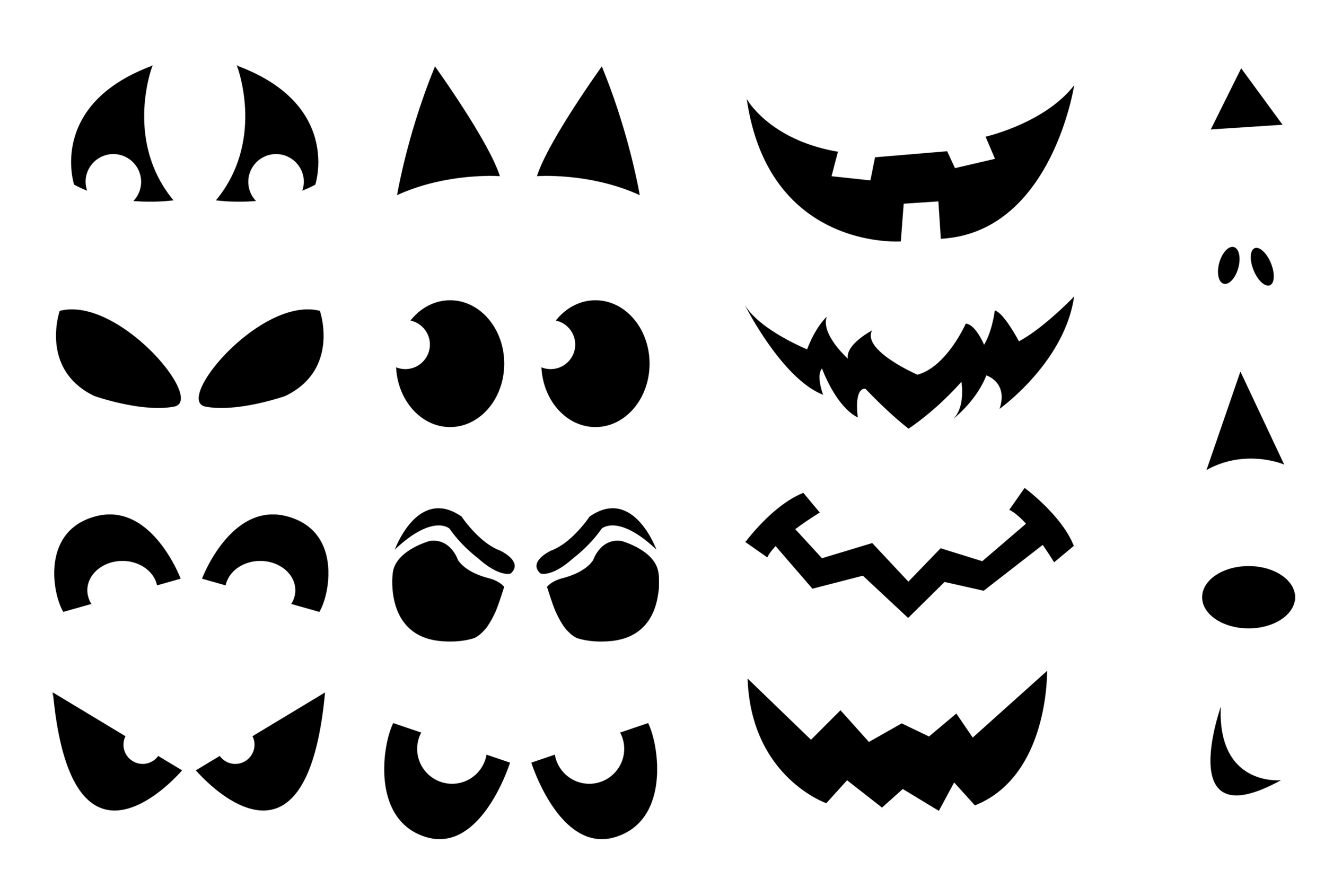 Jack O Lantern Cut Out Patterns