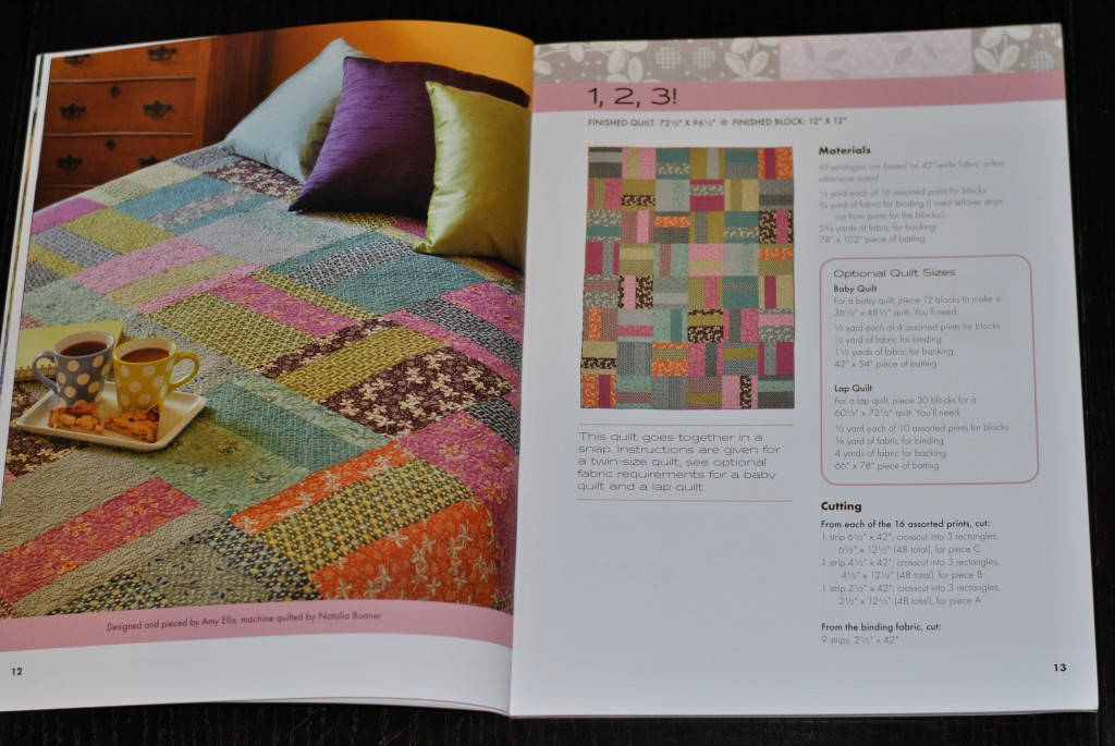 Modern Basics book: 1,2,3! quilt