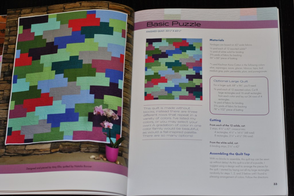 Modern Basics book: Basic Puzzle quilt