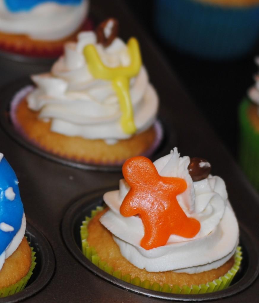 Superbowl football cupcake