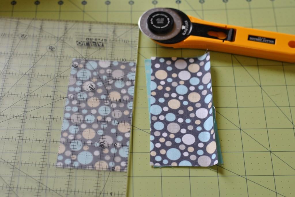 Cut charm squares