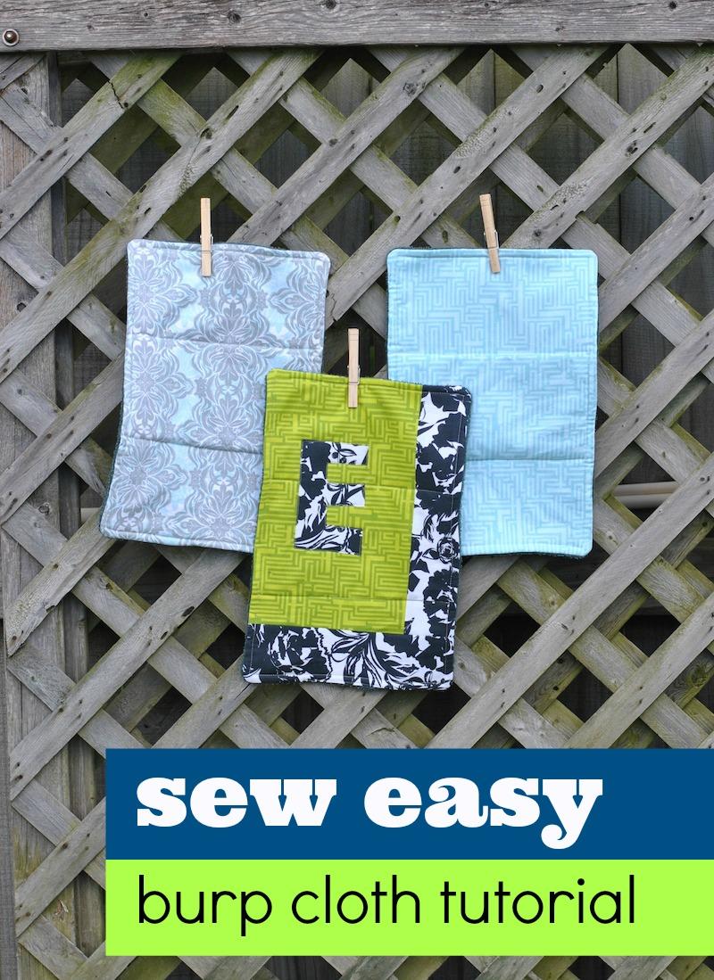 Sew Easy Burp Cloth Tutorial Craft Buds