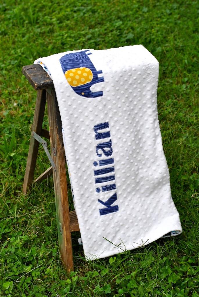 Applique Name Blanket