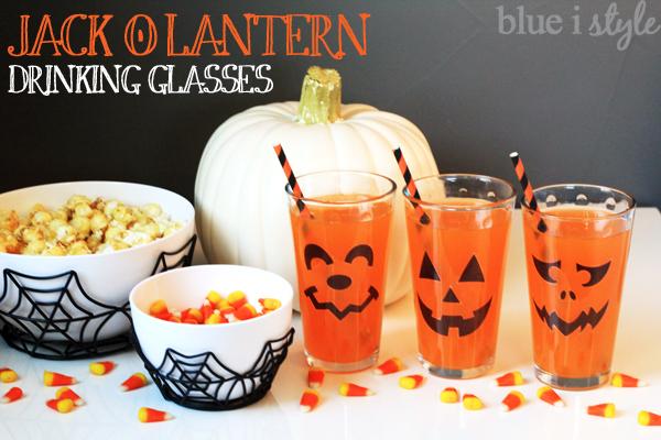 blue i style -Jack-O-Lantern-Drinking-Glasses