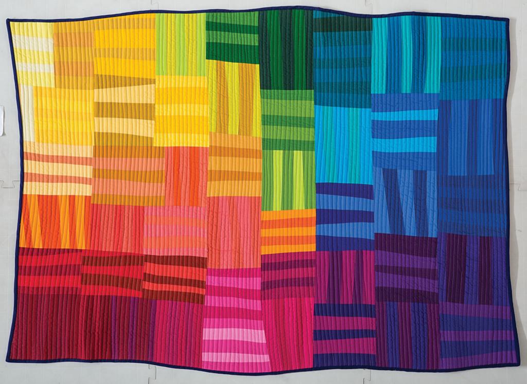 Rainbow Remix quilt by Rebecca Bryan