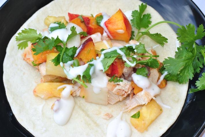 Crock Pot Chicken Tacos with Cilantro