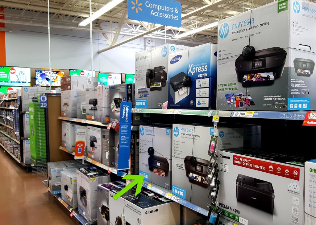 HP Walmart Aisle